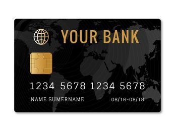 Credit card template design