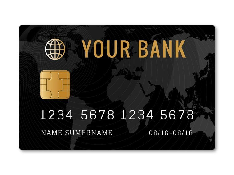 Diseño de plantilla de tarjeta de crédito