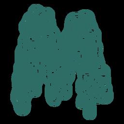 Zombie m letter sticker