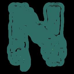 Zombie n letter sticker
