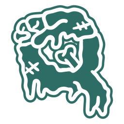 Zombie q letter sticker