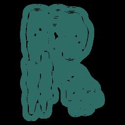 Zombie r letter sticker