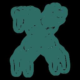 Zombie x letter sticker