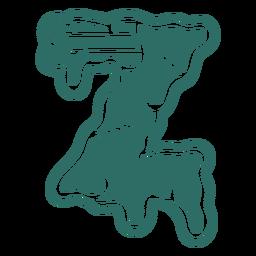 Zombie z letter sticker