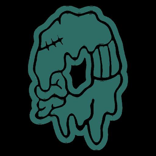 Pegatina número cero zombie