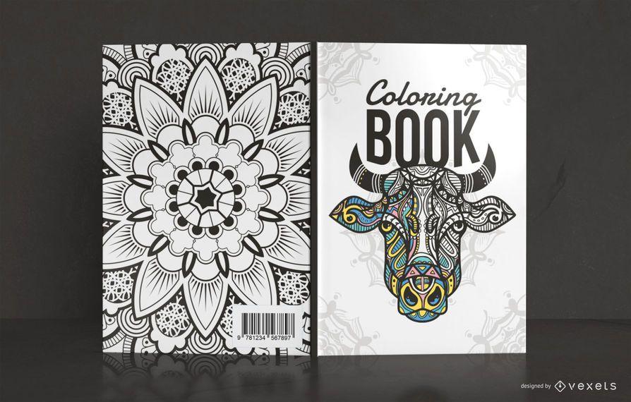Design da capa do livro de colorir mandala