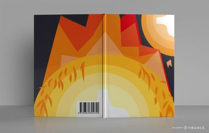 Im Freien Lagerfeuer Skizzenbuch Buchumschlag Design