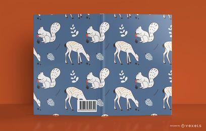 Design de capa de livro de animais da floresta