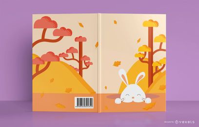 Design de capa de livro de coelhinho fofo