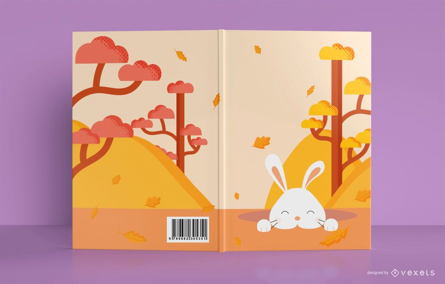 Cute Bunny Book Cover Design