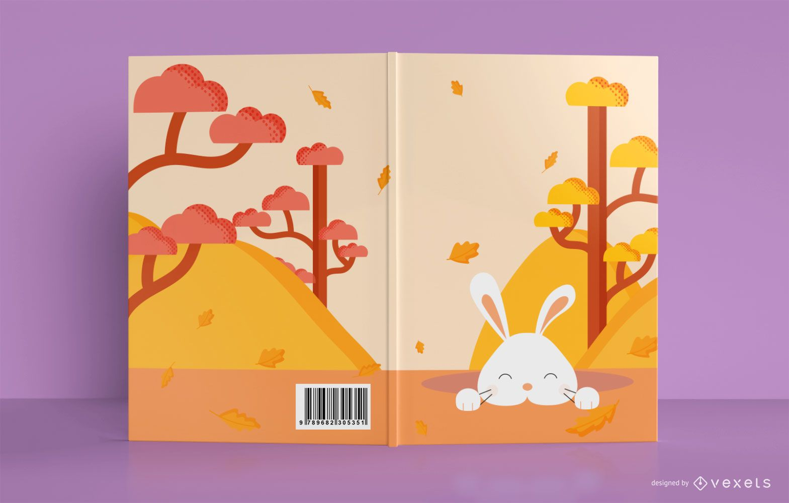 Cute Bunny Book Cover Design