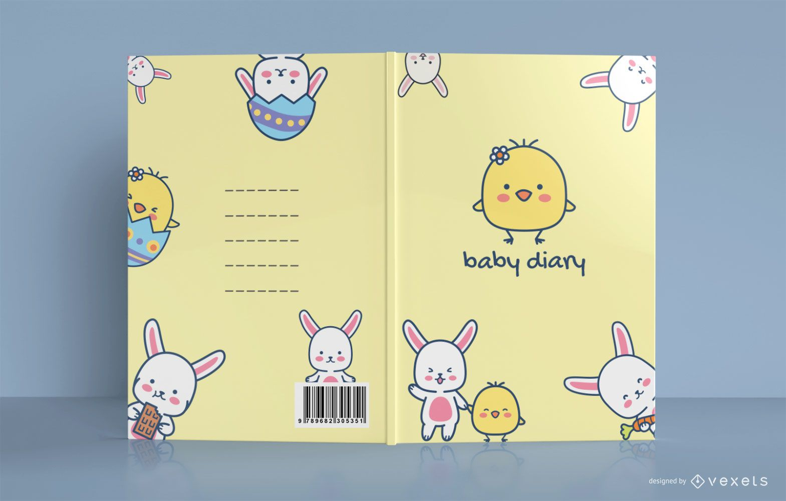 Cute Chicken Baby Diary Book Cover Design