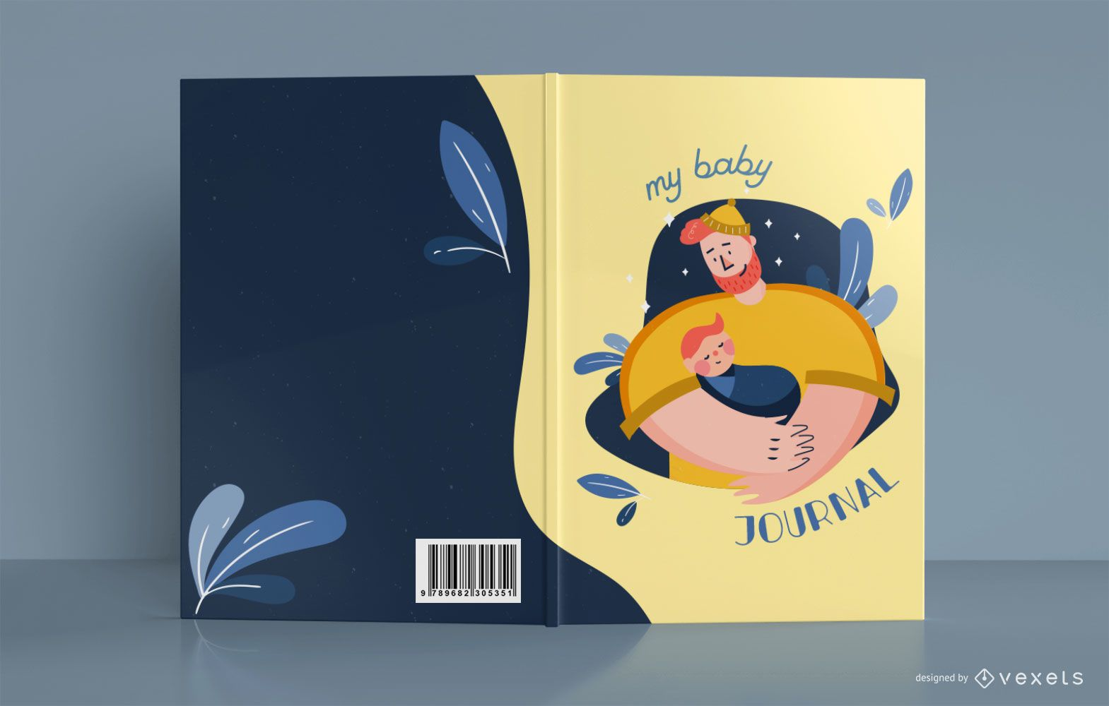 Mein Baby Journal Vater Buch Cover Design