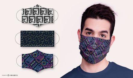 Paquete de diseño de mascarilla de patrón abstracto
