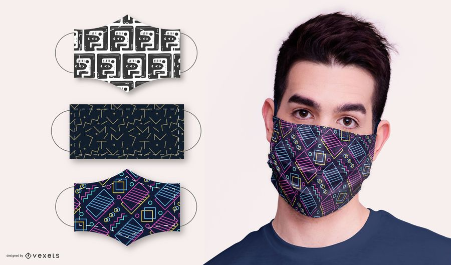 Abstract Pattern Face Mask Design Pack