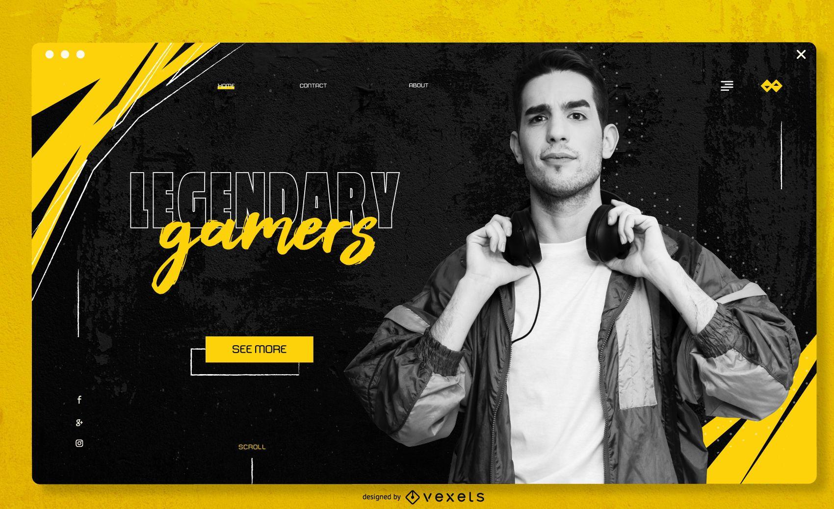 Gaming Blog Full Screen Slider Design