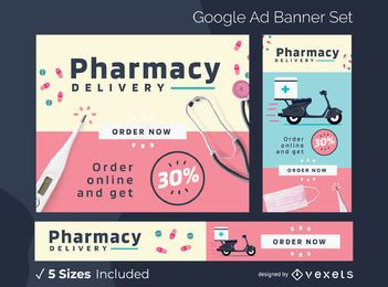 Apothekenlieferung Google Ads Banner Pack