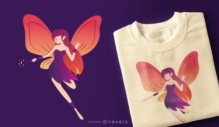 Diseño de camiseta de niña de hadas