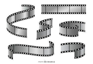 Conjunto de ilustración de tira de película
