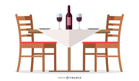 Restaurant Wine Table Design