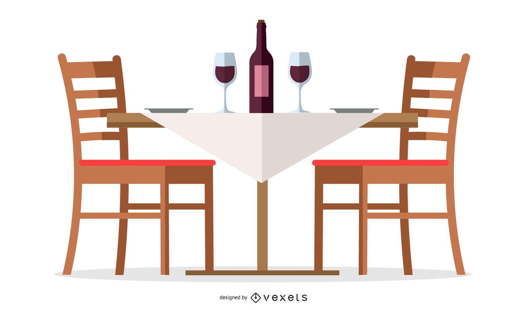 Restaurant Wine Table Design