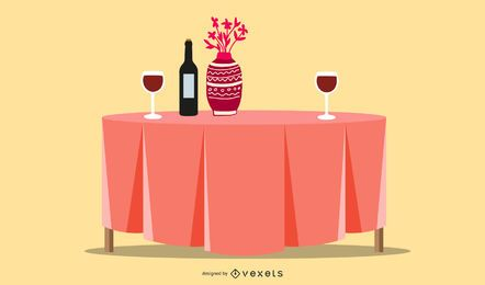 Design de restaurante de mesa de jantar
