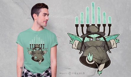 Design do t-shirt do rabino Goblin