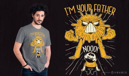Diseño de camiseta de cita de padre de virus