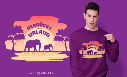 Afrikanischer Feiertag Deutsches Zitat T-Shirt Design