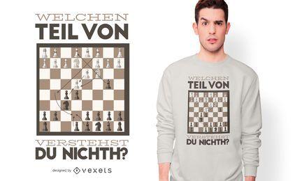 Design alemão do t-shirt das citações da xadrez