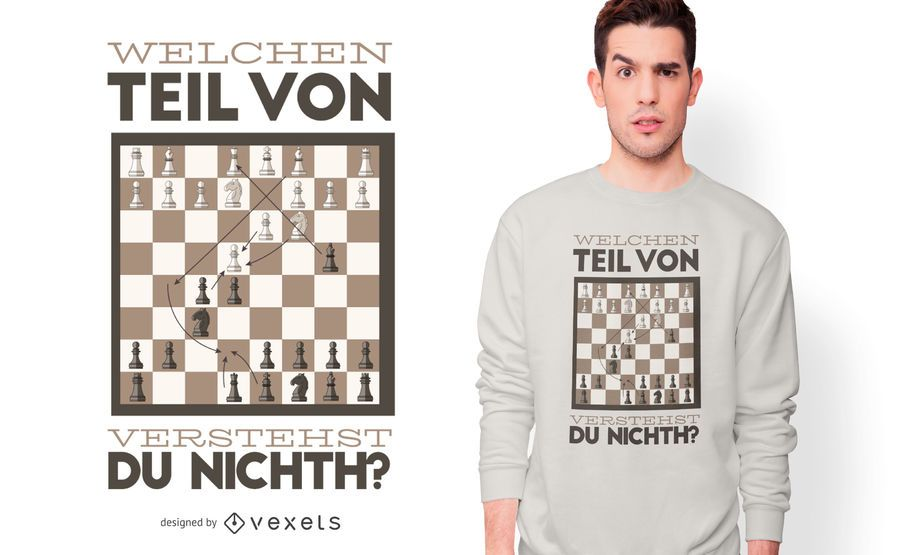 Funny Chess German Quote T-shirt Design