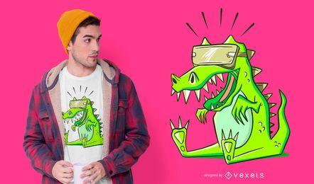 Diseño de camiseta T-rex VR