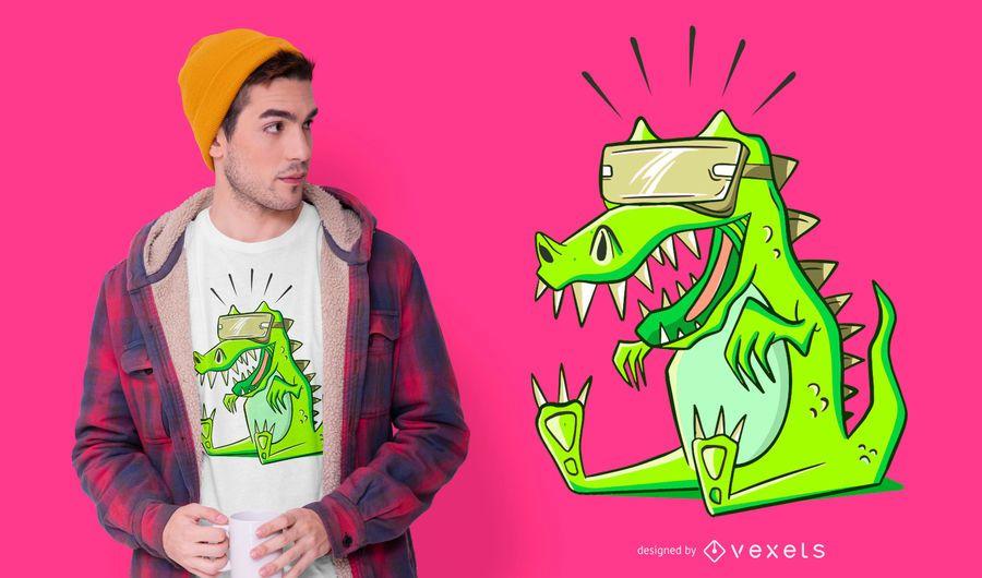 Design de camiseta VR T-rex