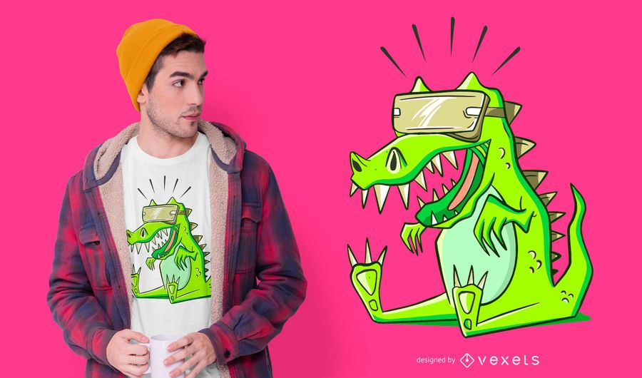 Design de camisetas T-rex VR