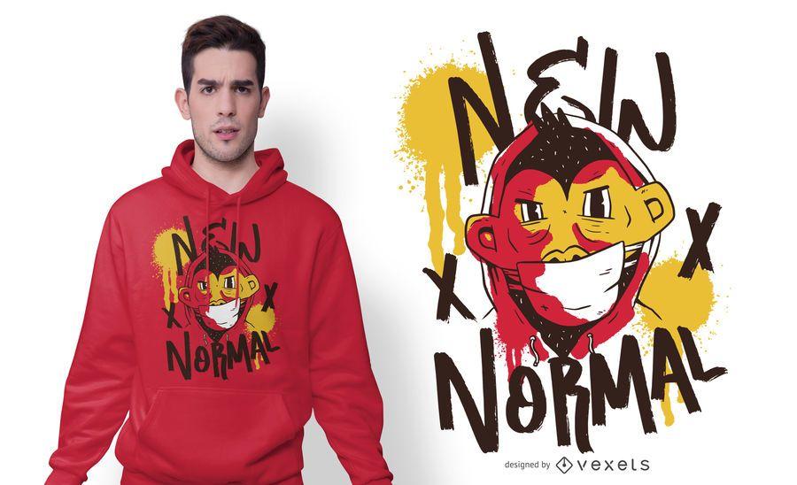 Neues normales Charakter-T-Shirt Design