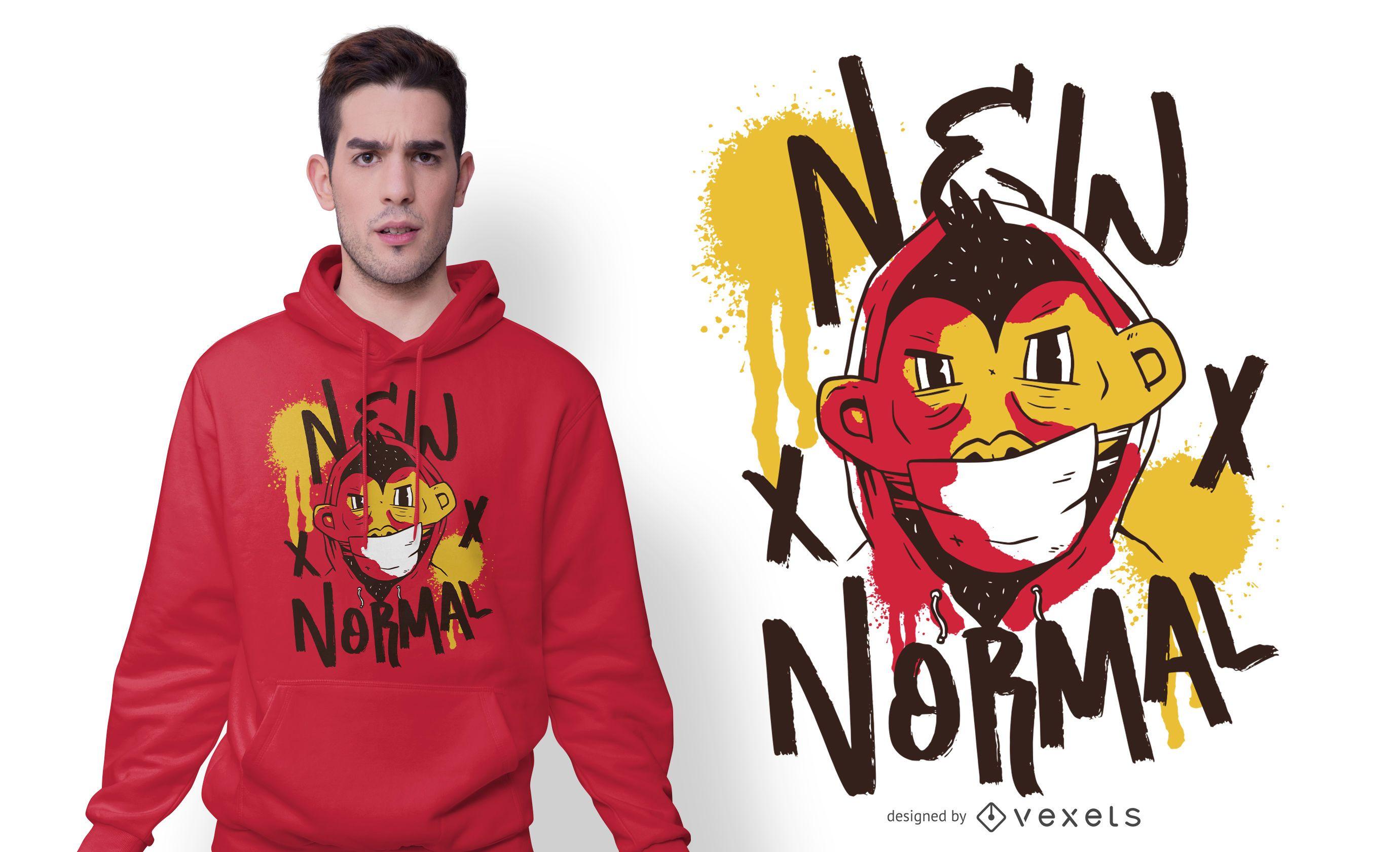 New Normal Character T-shirt Design