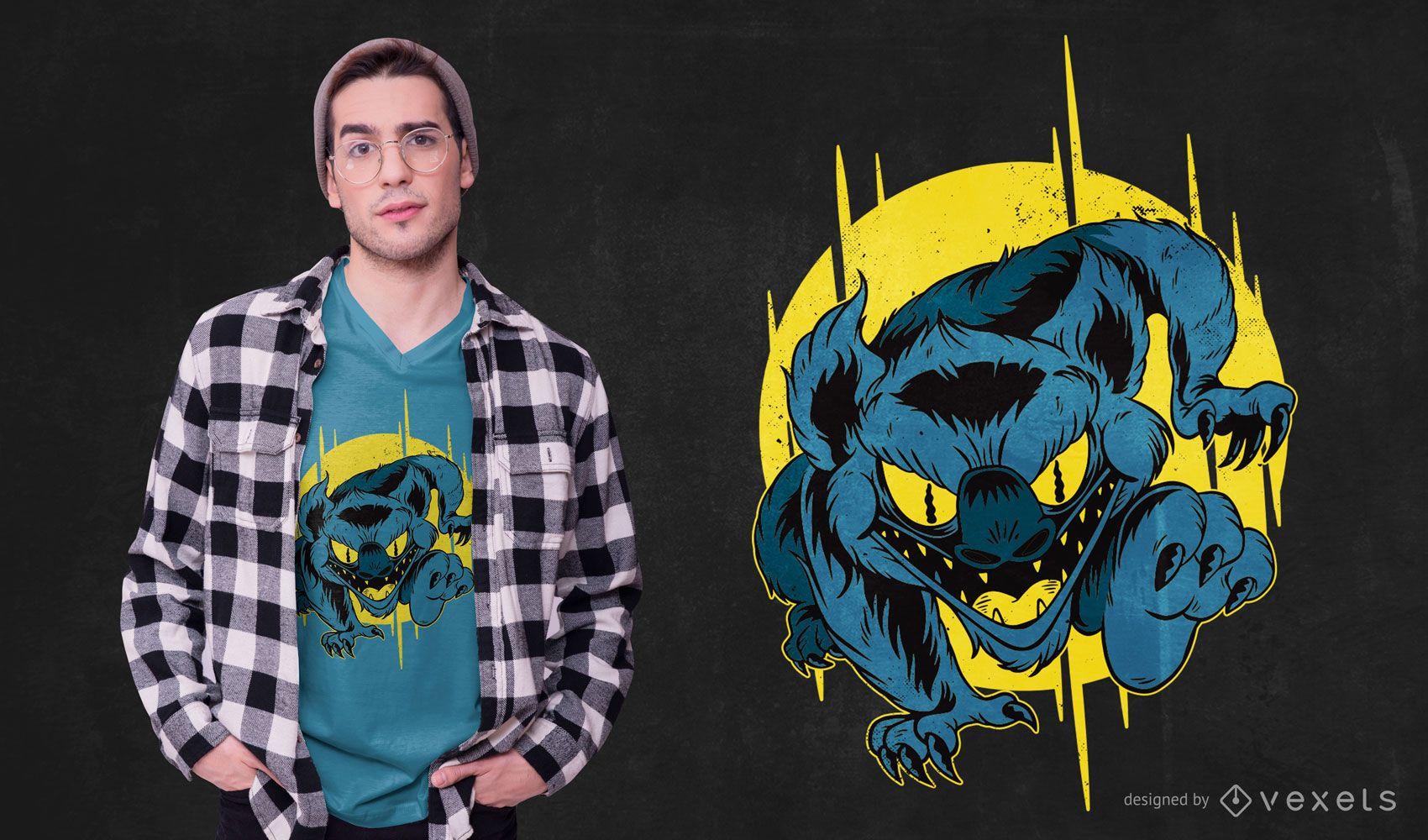 Diseño de camiseta Charging Monster
