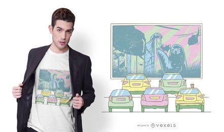 Diseño de camiseta Drive-by Cinema