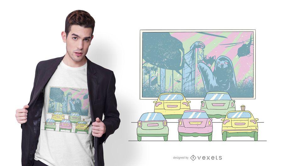 Design de camiseta de cinema drive-by