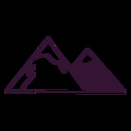 Curso de montanhas dos Alpes