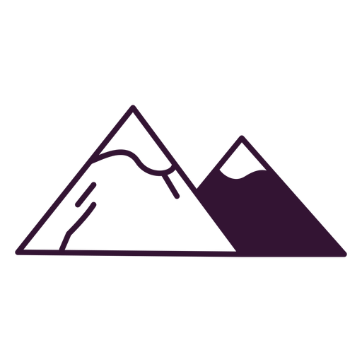 Alps mountains stroke Transparent PNG