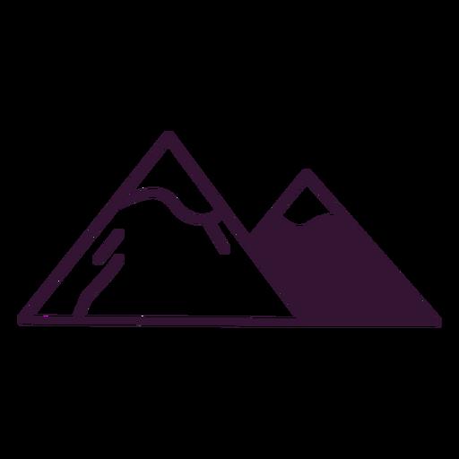 Trazo de las montañas de los Alpes