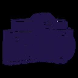 Câmera analógica azul