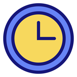 Reloj de icono de reloj analógico