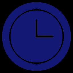 Icono de reloj analógico azul
