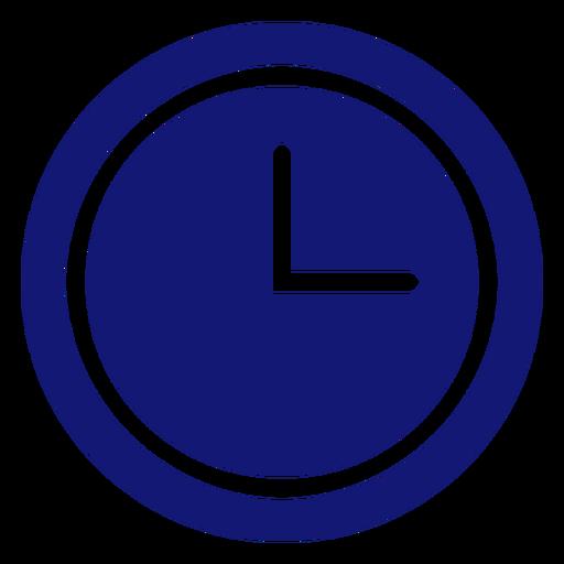 Icono de reloj analógico azul Transparent PNG
