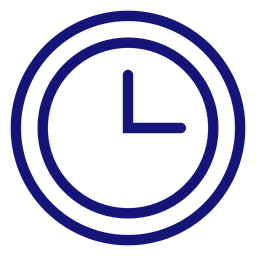 Analog clock icon stroke