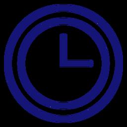 Trazo de icono de reloj analógico