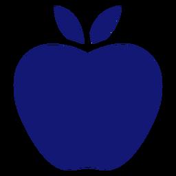 Icono de manzana azul