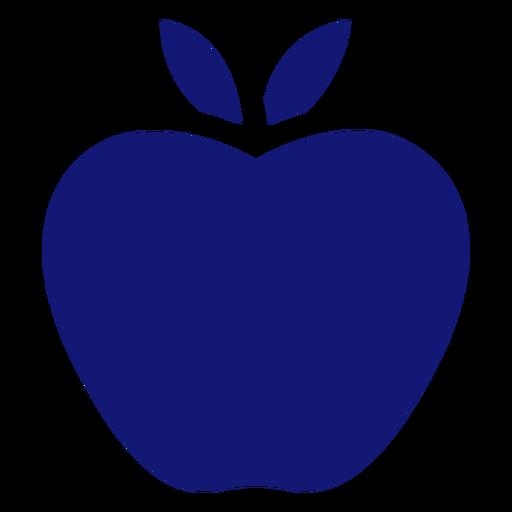 Apple Symbol blau Transparent PNG